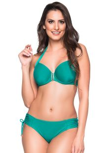 Accessorized green balconette bikini with underwire - ALÇA ARQUIPELAGO