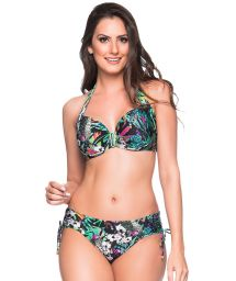 Färgglad, blommig smyckad balconette bikini - ALÇA ATALAIA
