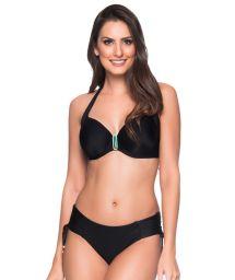 Schwarzer Balconette-Bikini mit Accessoire - ALÇA PRETO LP