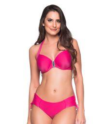 Accessorized pink balconette bikini with underwire - ALÇA TROPICALIA