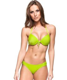 Lime green push-up bikini with underwire - ALEXANDER