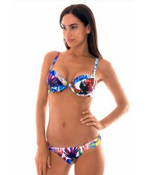 Tropical print push up bikini - ARARAS