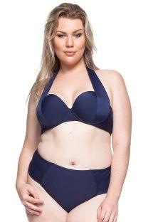 Plus-size bandeau bikini in navy blue - AREIAS DESERTAS