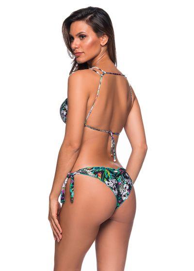 Buntgeblümter Crop-Top-Bikini, gewellter Rand - BABADINHO ATALAIA