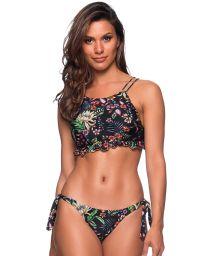Geblümter Crop-Top-Bikini mit gewelltem Rand - BABADINHO DREAM
