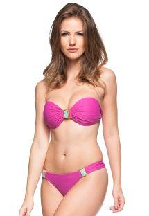 Bikini a fascia rosa con pietre decorative - BANCOS DE AREIA