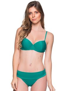 Green underwired balconette bikini - BASE ARQUIPELAGO