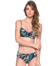 Colorful floral underwired balconette bikini - BASE ATALAIA