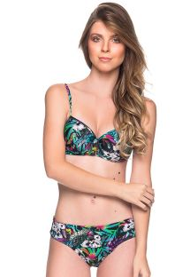 Bikini floral colorido de  top  balconette push-up con aros - BASE ATALAIA