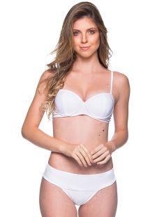 Weißer Balconette-Bikini mit Formbügeln - BASE BRANCO