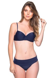 Navy blue underwired balconette bikini - BASE MIRAMAR