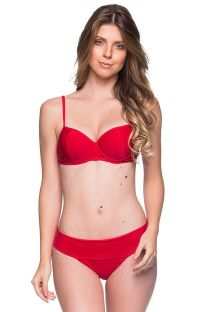 Red underwired balconette bikini - BASE MULUNGU