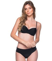 Black underwired balconette bikini - BASE PRETO