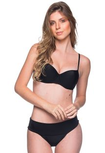 Bikini nero con top balconcino con ferretto - BASE PRETO