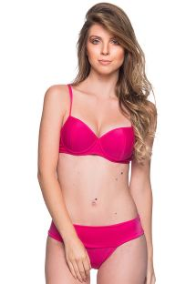 Pink underwired balconette bikini - BASE TROPICALIA