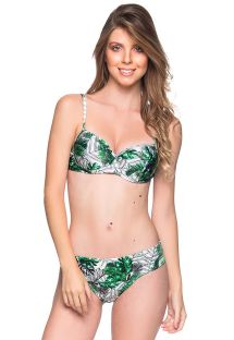 Bikini hojas verdes de top balconette push-up con aros - BASE VIUVINHA