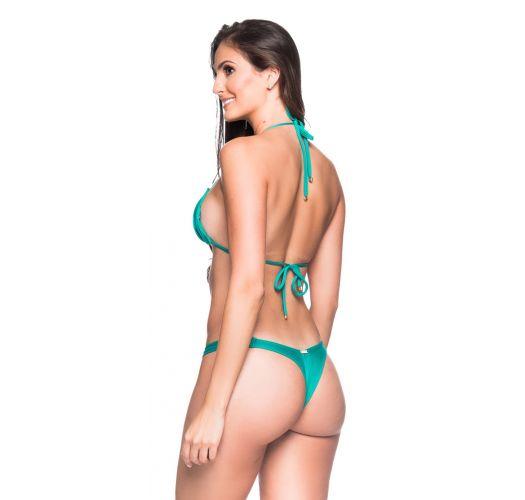 Green string bikini with padded top - BOJO ARQUIPELAGO