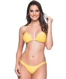 Yellow string bikini with padded top - BOJO PAELLA