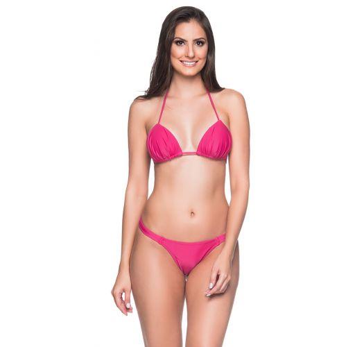 Pink string bikini with padded top - BOJO TROPICALIA