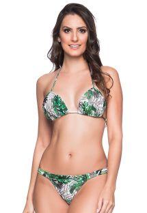 Bikini  hojas verde y blanco con taparrabo y top acolchado - BOJO VIUVINHA