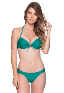 Green underwired push-up balconette bikini - BOLHA ARQUIPELAGO