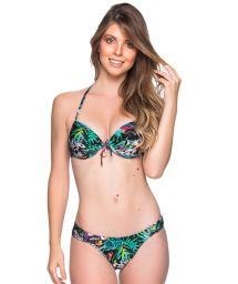 Push-Up-Balconette-Bikini mit Tropenprint - BOLHA ATALAIA