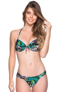 Colorful balconette push-up bikini in floral print - BOLHA ATALAIA