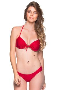 Bikini balconnet push up à armatures rouge - BOLHA MULUNGU