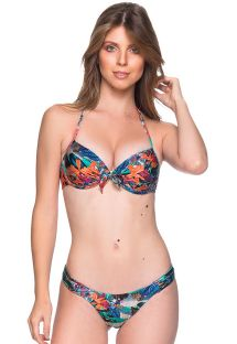 Bikini estampa tropical de top balconette push-Up - BOLHA NORONHA FLORAL
