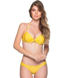 Yellow underwired push-up balconette bikini - BOLHA PAELLA