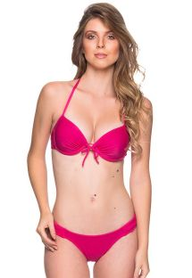 Pink underwired push-up balconette bikini - BOLHA TROPICALIA