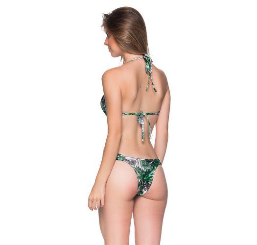 Green leaves balconette push-up bikini - BOLHA VIUVINHA