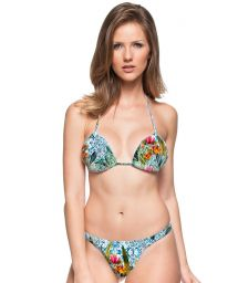Printed string bikini and padded triangle top - CABO VERDE