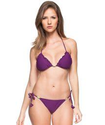 Purple scrunch bikini with decorative stones - CANTO DA ILHA