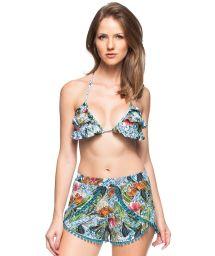 Beach set: colorful shorts and triangle top - CASTANHA DO PARA