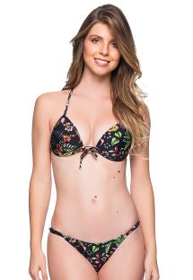 Back floral triangle padded push-up bikini - CORTINAO DREAM