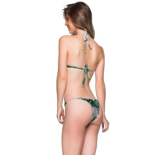 Green foliage bikini with slim adjustable sides - CORTINAO VIUVINHA