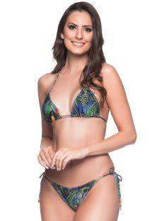 בגד ים ברזילאי בעיצוב טרופי צבעוני - CORTINIHA ARARA AZUL