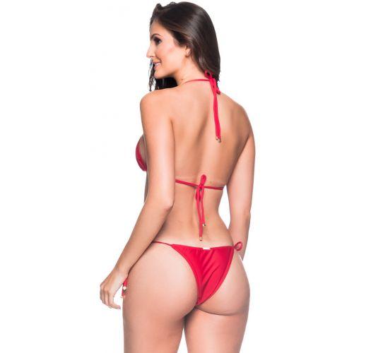 Roter geknoteter Brazilian Triangel-Bikini - CORTININHA MULUNGU