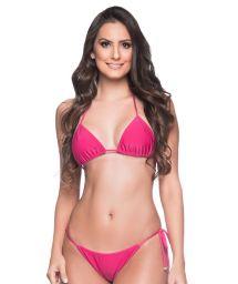 Pink Brazilian triangle bikini - CORTININHA TROPICALIA