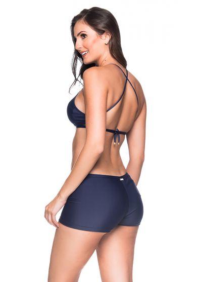Crop-Top-Bikini, marineblau, Shorty-Unterteil - CRUZADO MIRAMAR