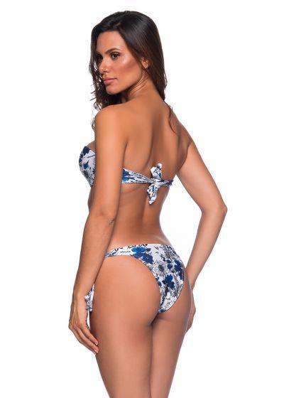 Blau/weißgeblümter Bandeau-Bikini, Accessoire - FAIXA ATOBA