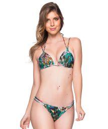 Green floral double side bikini - FIXO TROPICAL GARDEN