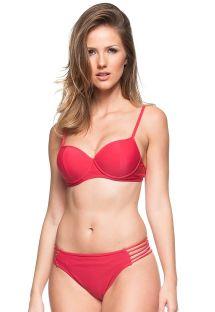 Röd bikini med nedredel med band och övredel med bygel - GOIABA VERMELHA
