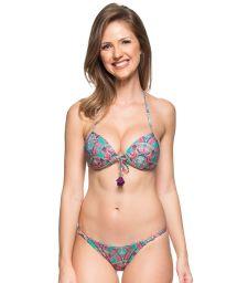 Colourful printed push-up bikini with tassels - ILHAS BAHAMAS