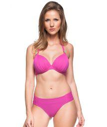 Pink hard padded halter bikini with underwire - ILHAS RASAS