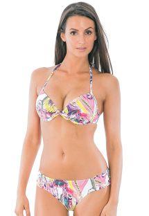 Pink printed underwired push-up bikini - JOIA HIPPIE PINK