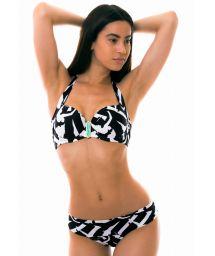 Accessorized black & white balconette bikini - LAGO MICHIGAN