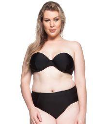 Plus-size bandeau bikini in black - LITORAL DA BAHIA