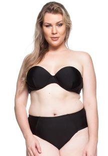 Schwarzer Bandeau-Bikini in großen Größen - LITORAL DA BAHIA